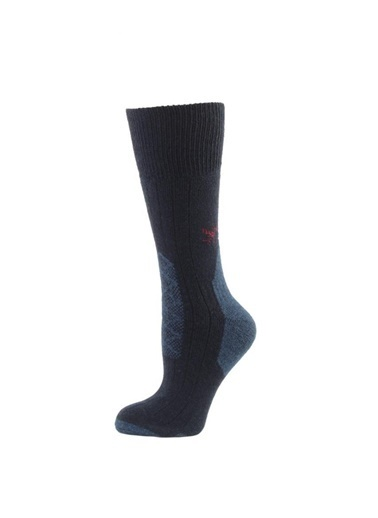 2AS  Desenli Soket Termal Çorap Lacivert
